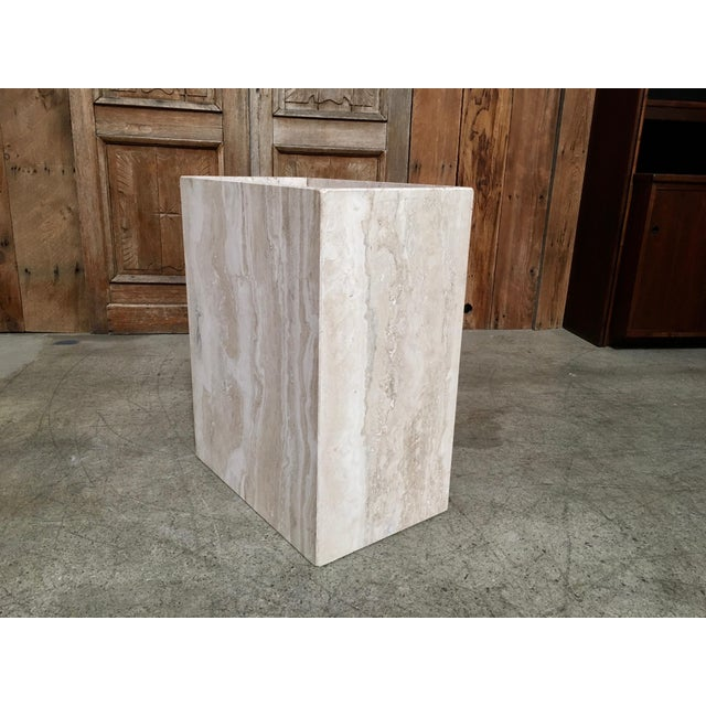 20th Century Modern Travertine Marble Planter For Sale - Image 9 of 11