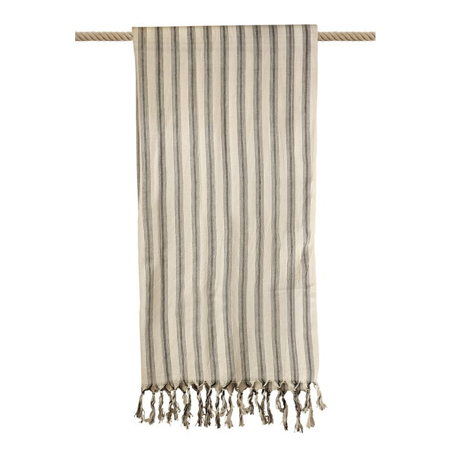 Turkish Hand Made Towel With Natural/Organic Cotton and Fast Drying,39x73 Inches For Sale - Image 9 of 13