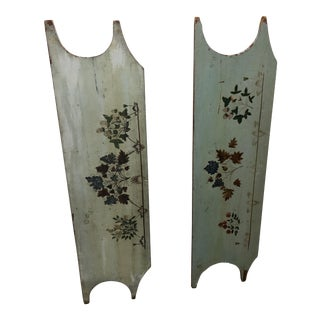 Primitive American Child's Headboards - a Pair For Sale