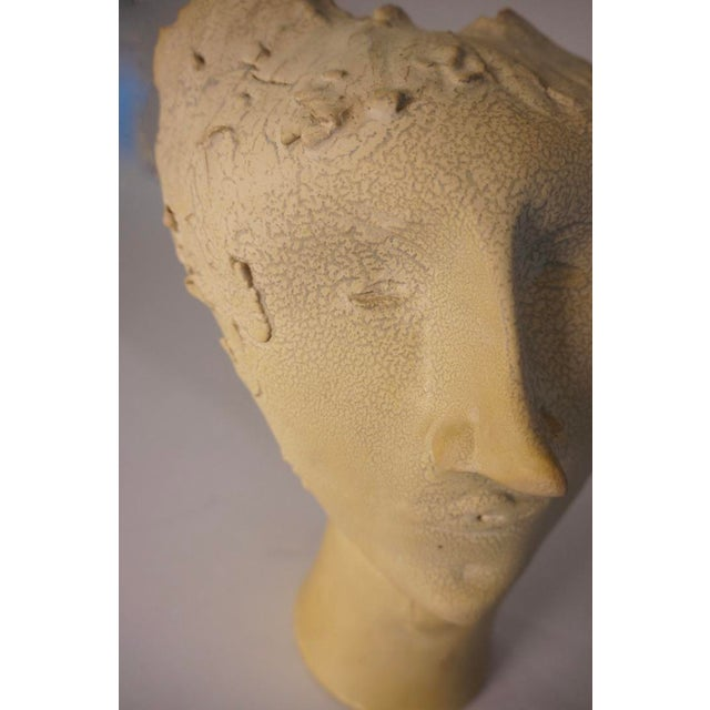 1950s Vintage Bust of Fantoni's Wife Sculpture For Sale - Image 9 of 12