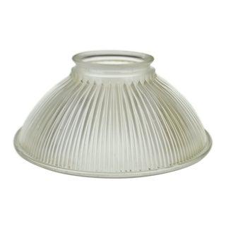 Vintage Holophane Ribbed Glass Light Shade