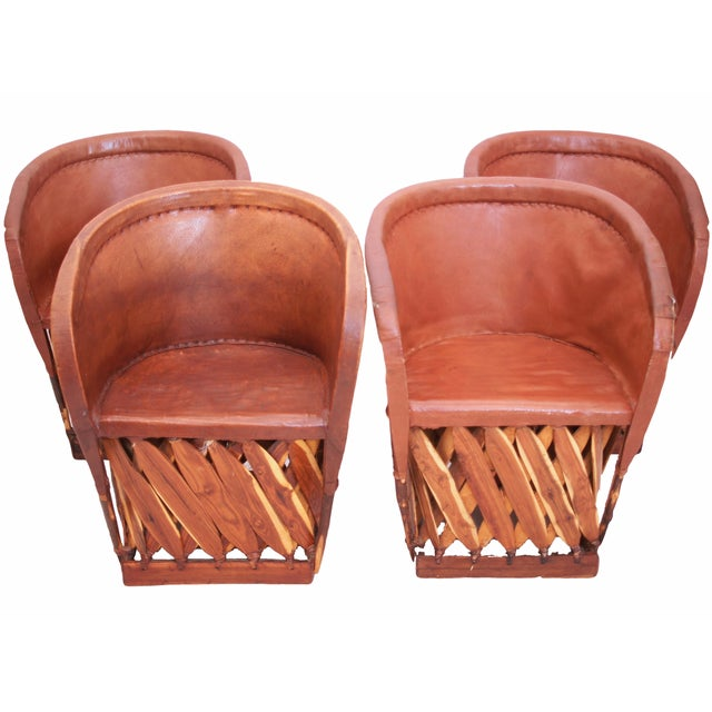 Equipales Mexican Chairs - Set of 4 - Image 1 of 5