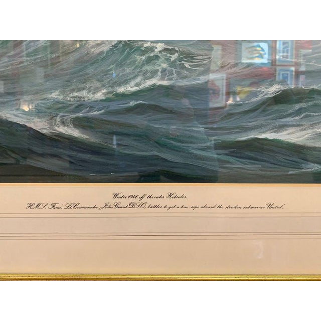 1990s David Brackman Marine Gouache Painting For Sale - Image 4 of 12