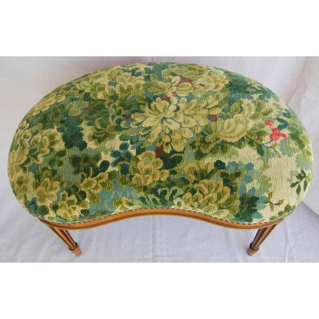 Italian Scalamandre Marly Fabric Bench - Image 6 of 11