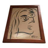 Image of Peter Keil Cubist Abstract Face Portrait Painting For Sale