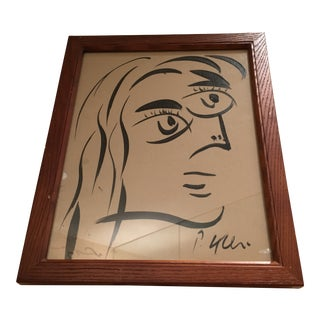 Peter Keil Cubist Abstract Face Portrait Painting For Sale