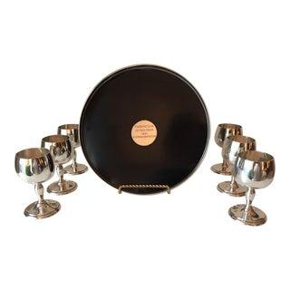 Vintage Sterling Cordial Set-Bond Club of New York-1961 For Sale