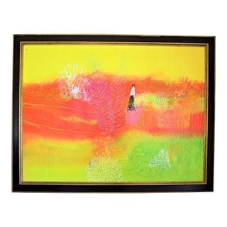 "1960s Modern Painting on Canvas, ""Glenda"" by Lamar Briggs"