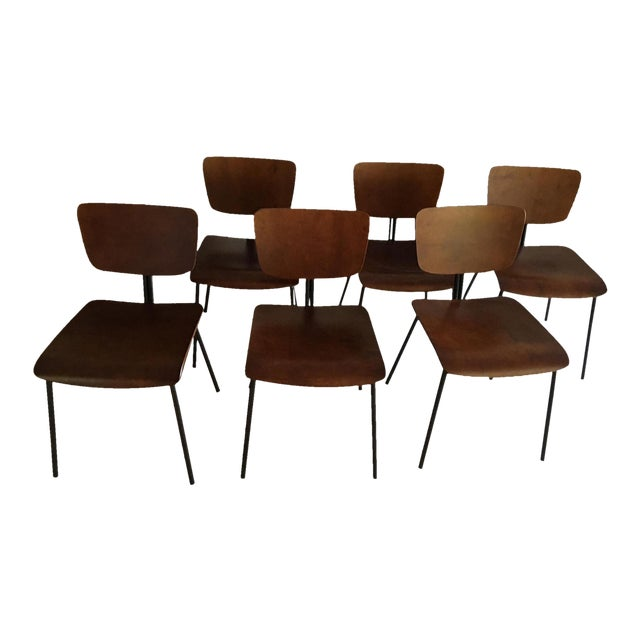 Molded Wood Dining Chairs - Set of 6 - Image 1 of 6