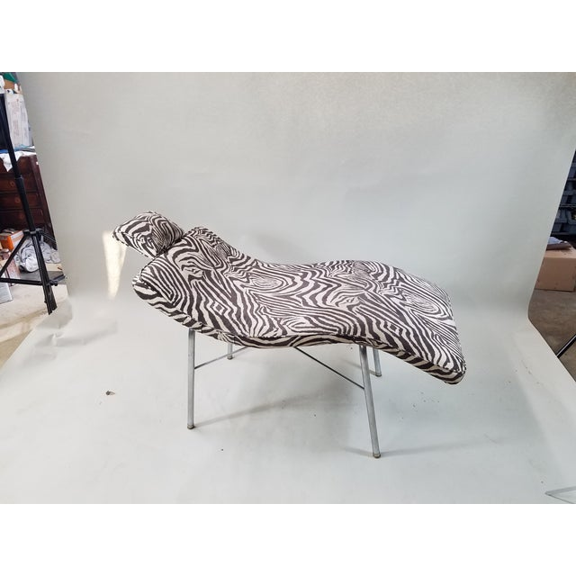 Vintage Scupltural Chaise Lounge - Image 2 of 6