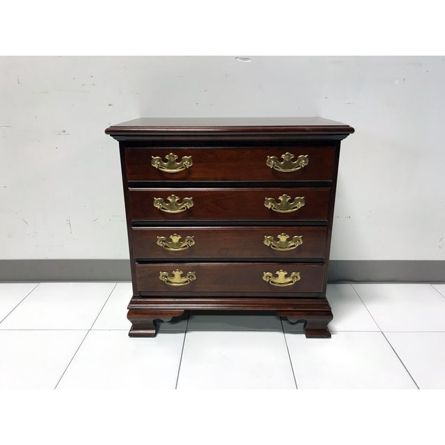 JF Delwood Solid Cherry Chippendale Chairside Chest - Image 5 of 11