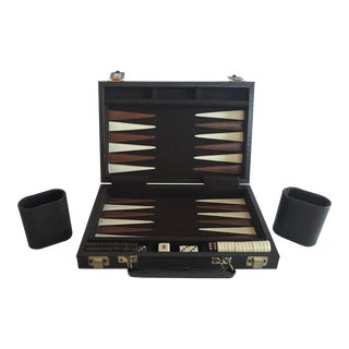 Mid 20th Century Vintage Travel Backgammon Set - 38 Pieces For Sale