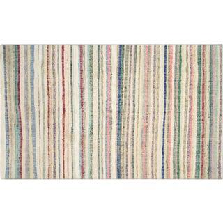 "1960s Turkish Striped Rag Kilim - 5'3"" X 9'3"" For Sale"