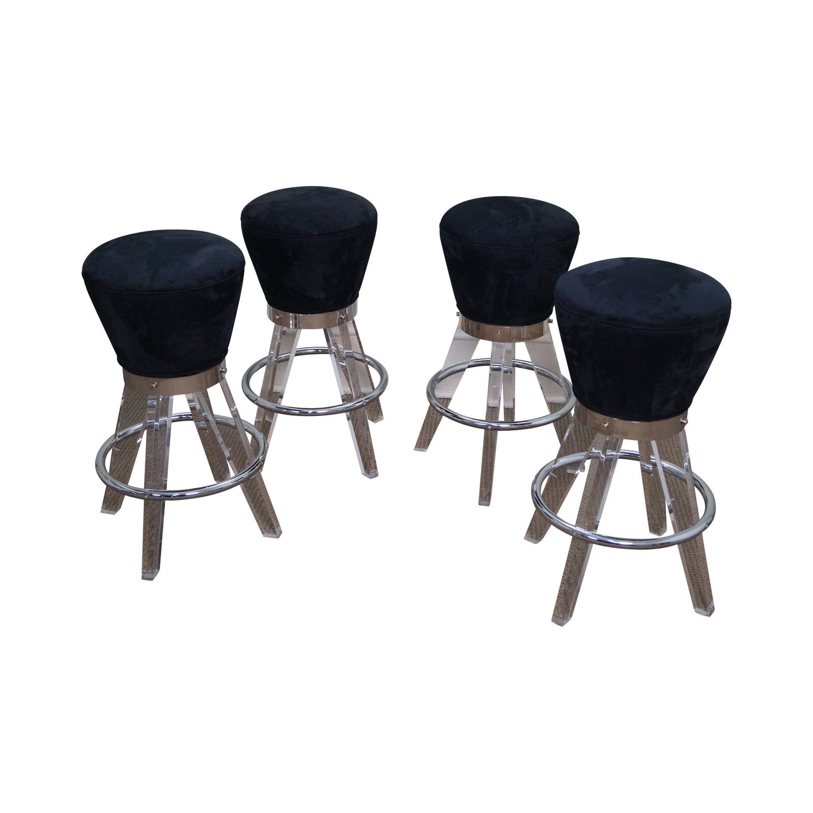 h studio lucite gumdrop bar stoolshaziza  set of 4