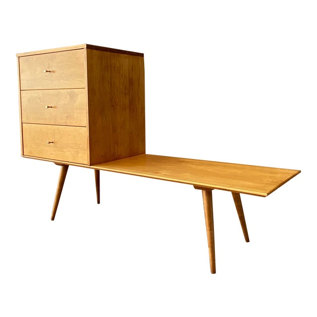 Mid-Century Modern Paul McCobb Planner Group by Winchendon Modular Cabinet and Bench For Sale