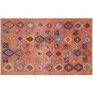 """Vintage Afghan Maimane Kilim - 4' X 6'3"""" For Sale"""