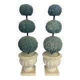 Image of Italian Mid Century Ceramic Topiary - a Pair For Sale
