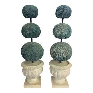 Italian Mid Century Ceramic Topiary - a Pair For Sale