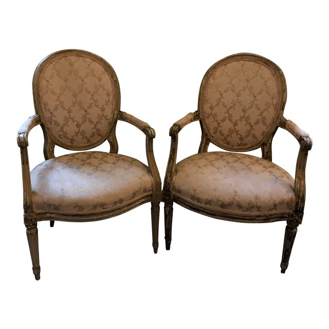 Early 20th Century French Louis XV Style Chairs - a Pair For Sale