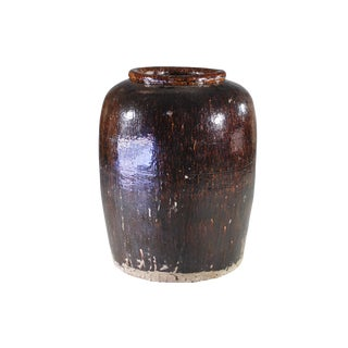 19th Century Vintage Indian Oversized Storage Jar For Sale