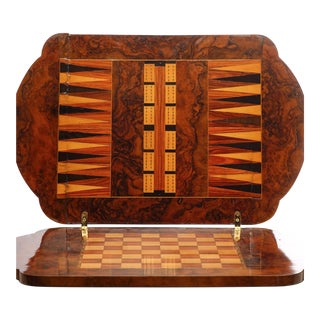 19th C. French Inlaid Games Table For Sale