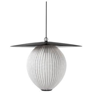 Large Mathieu Matégot 'Satellite' Pendant in Black and White Metal