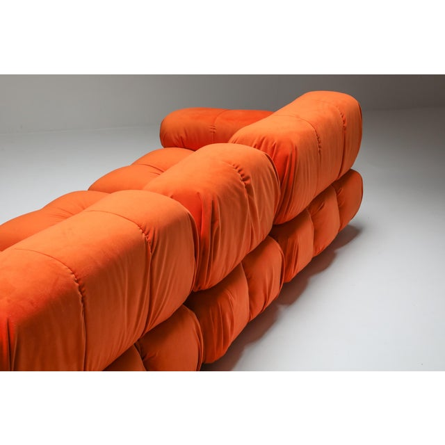 1970s Camaleonda Sectional Sofa in Bright Orange For Sale - Image 6 of 9