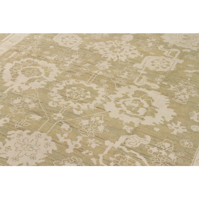 Islamic Contemporary Persian Oushak Rug - 10′ × 13′9″ For Sale - Image 3 of 12