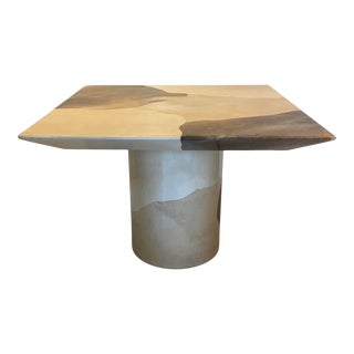 Karl Springer Parchment Dinette Table For Sale