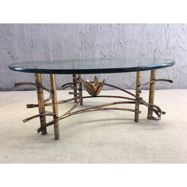 "Glass ""Lotus"" Coffee Table Attributed to Silas Seandel For Sale - Image 7 of 8"