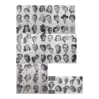 Academy Award Oscar Portraits, Complete Collection, Nicholas Volpe Brown Derby - Set of 69 For Sale