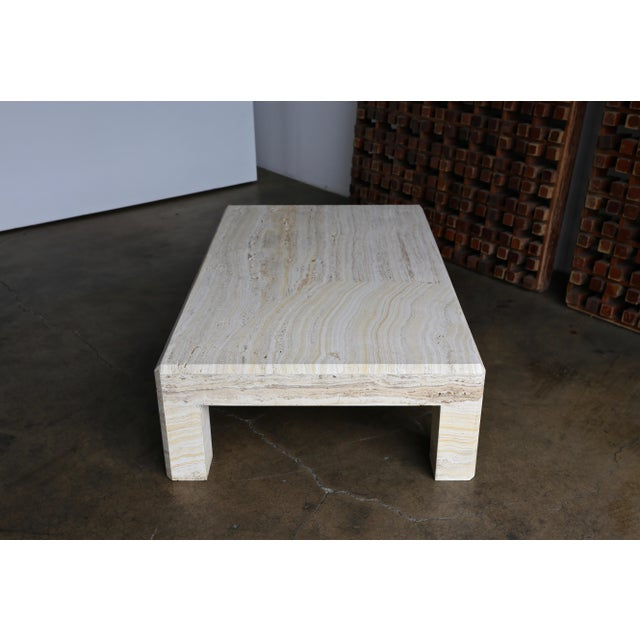 Late 20th Century Travertine Coffee Table Circa 1980 For Sale - Image 5 of 13