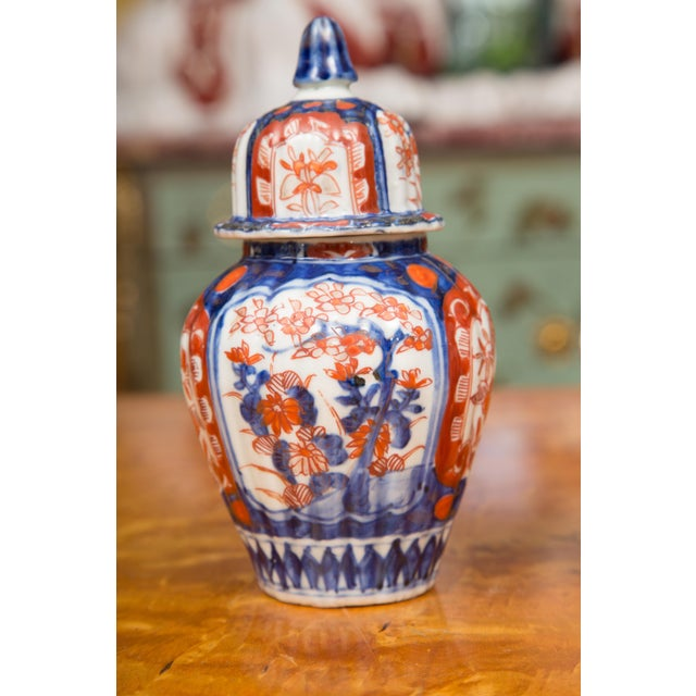 Blue 19th Century Diminutive Imari Lidded Urns - a Pair For Sale - Image 8 of 8