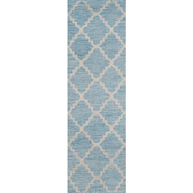"2010s Momeni Caravan Hand Woven Blue Wool Area Rug - 5' X 7'6"" For Sale - Image 5 of 6"