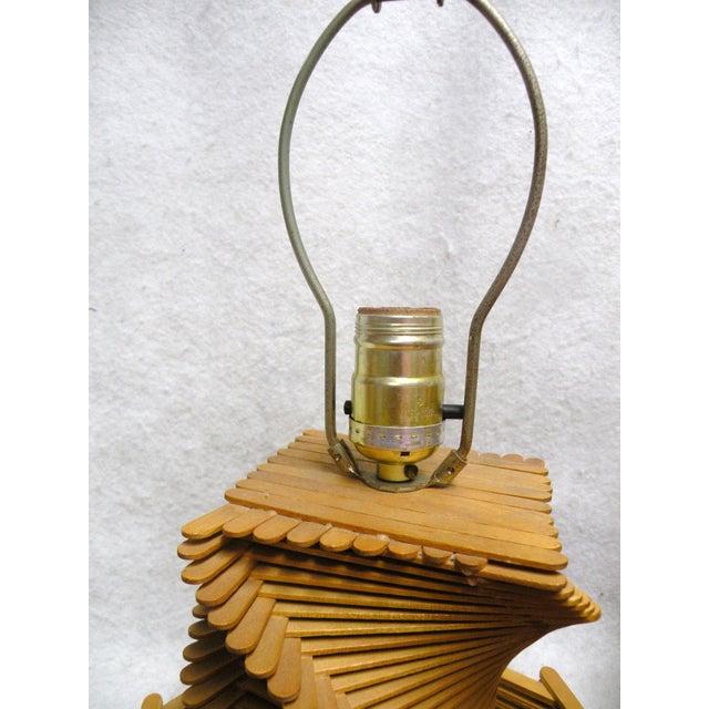 1960's Folk Art Lamp - Image 5 of 6
