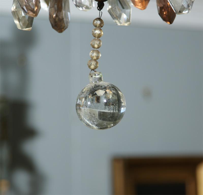 Jansen Bronze And Crystal Chandelier Chairish