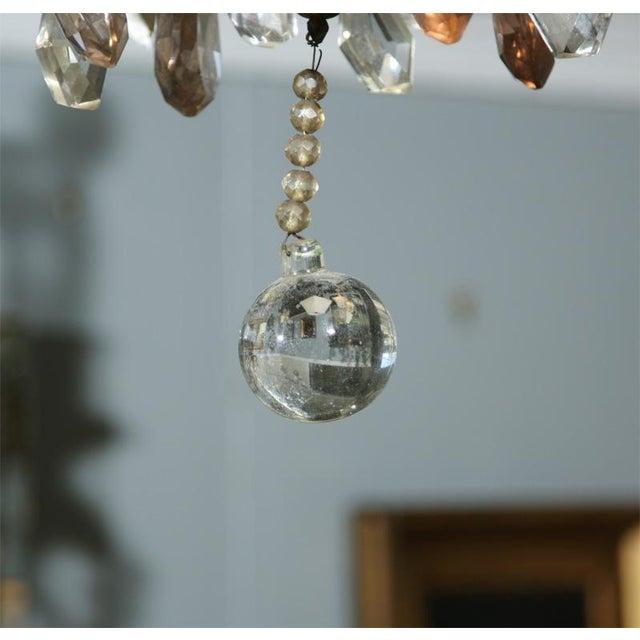Jansen Bronze and Crystal Chandelier - Image 4 of 6