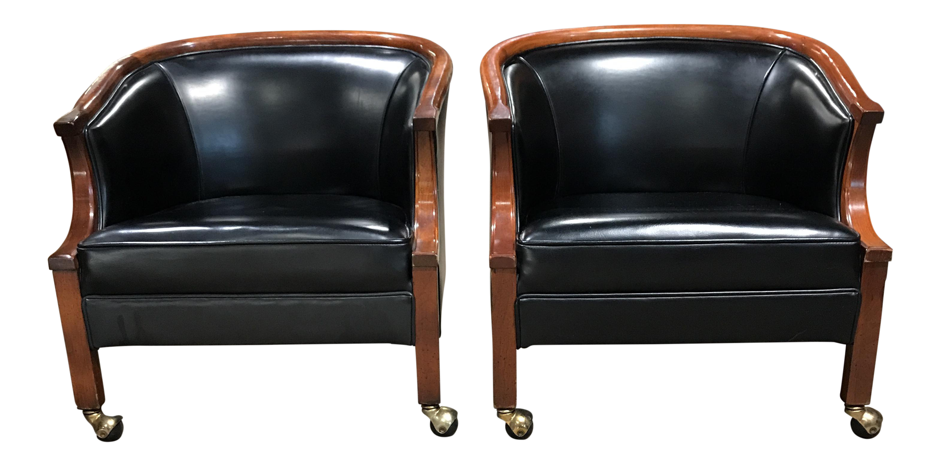 Mid Century Ralph Morse Lounge Chairs   A Pair