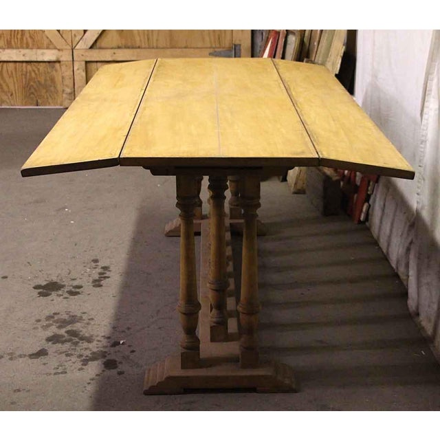 French Spindle Leg Wooden Table For Sale - Image 3 of 6