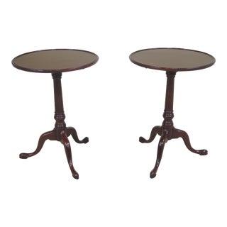 Kittinger Wa-1010 Colonial Williamsburg Mahogany Tables - a Pair