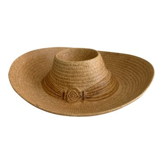 Vintage Stoneware Ceramic Sombrero Hat Dip & Chip Platter For Sale