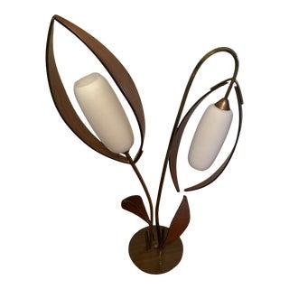 1960s Mid Century Deena Brass Lamp For Sale