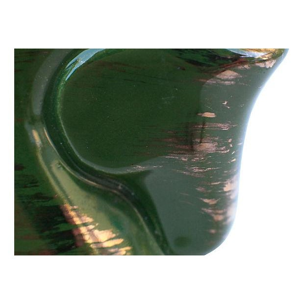 Mid-Century Green & Gold Pottery Horse Dish - Image 3 of 4