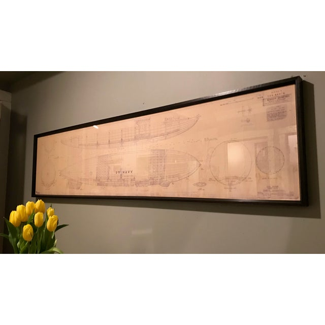 Vintage U.S. Navy Airship Blueprint For Sale - Image 9 of 11