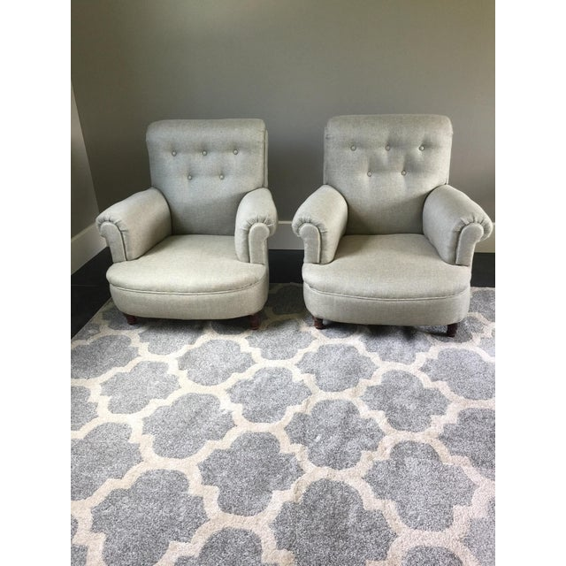 I purchased this pair of chairs from a French dealer from Scott's Antique Market on Atlanta. The dealer said the pair came...