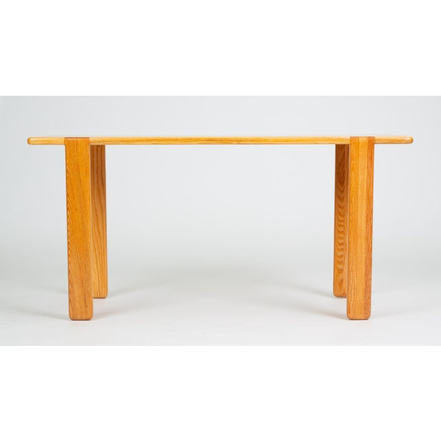Wood Studio Craft Console Table in American Oak For Sale - Image 7 of 13