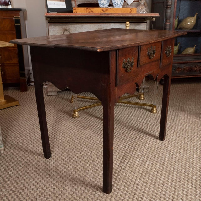 Mid 18th Century 18th Century English Oak Side Table For Sale - Image 5 of 10