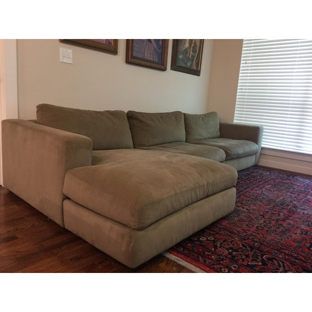 Feather Design Within Reach Reid Sectional Chaise For Sale - Image 7 of 10