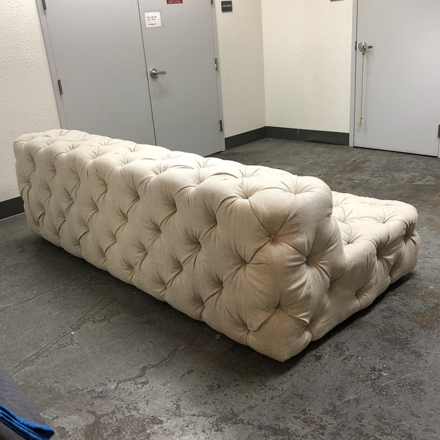 Restoration Hardware Restoration Hardware Soho Armless Sofa For Sale - Image 4 of 13