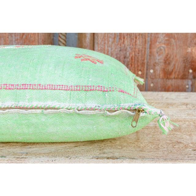 2010s Kia Lumbar Moroccan Silk Rug Pillow For Sale - Image 5 of 8